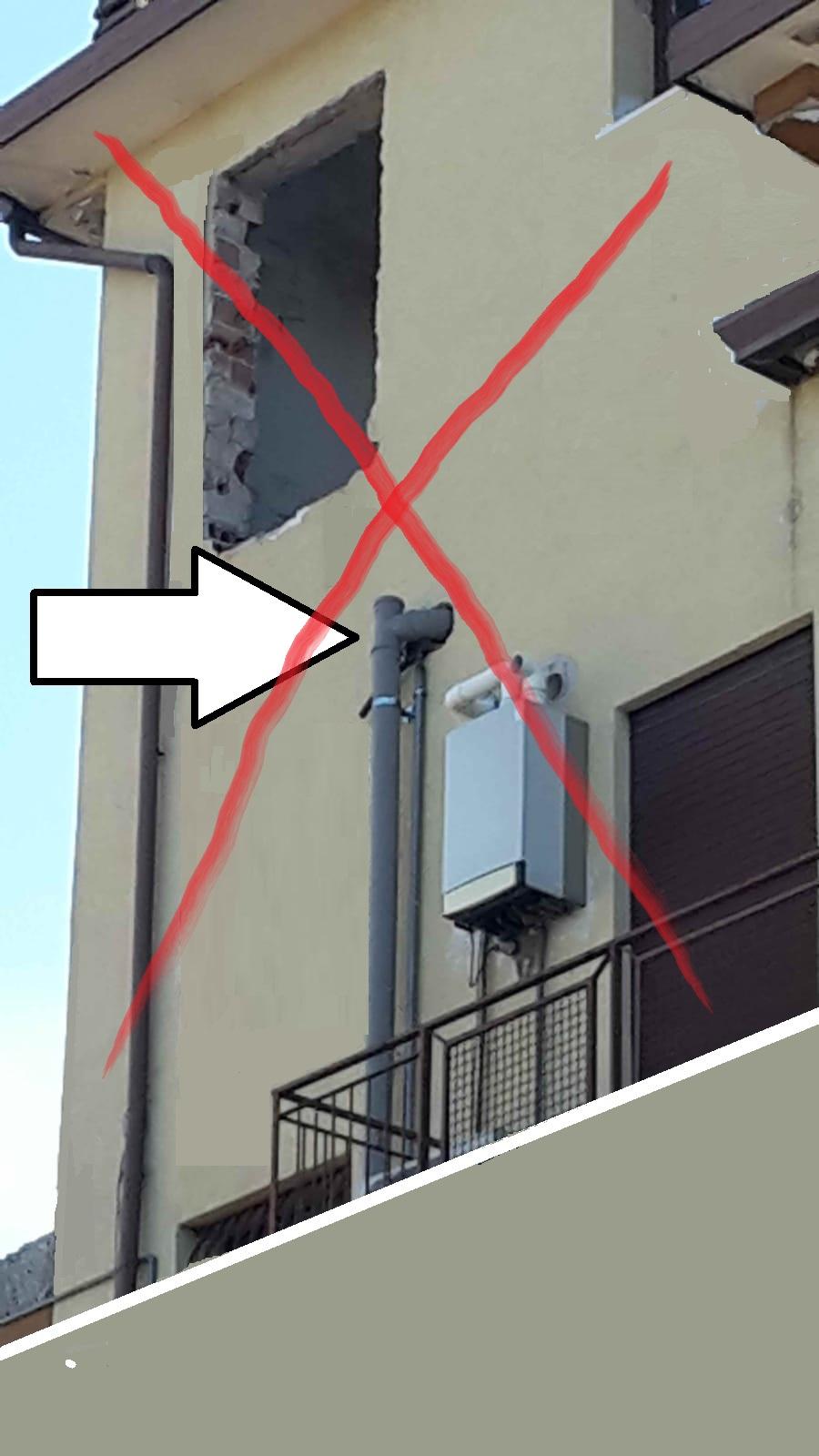 Tubi Per Scarico Bagno colonna di scarico su facciata esterna?   imec risanamenti